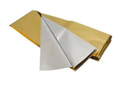 Redningstæppe sølv-guld