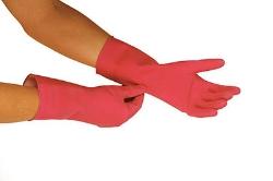 Handske til strømpepåtagning