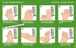 Korrekt hånddesinfektion