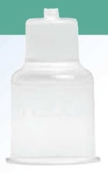 Hållare för blododlingsflaska plast