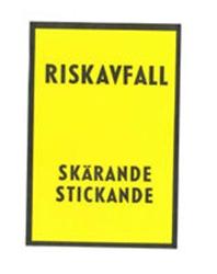 Etikett riskavfall