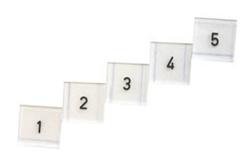 Röntgenmärke siffror 1-5