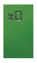 Röntgenmärke DX grön plast