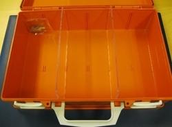 Första hjälpen låda tom orange
