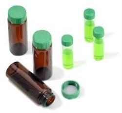 Ampull AMBER skruvlock grön