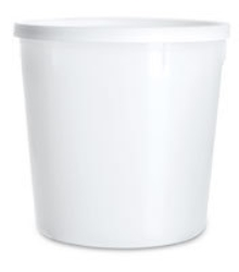 Burklock i plast med snäpp vitt ej CE