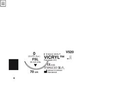 Sutur Vicryl 0 V520H