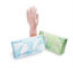 Handskar us latex pudrad