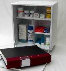 Medicinskåp Flexibel 375x350x215mm 1 dörr med lås