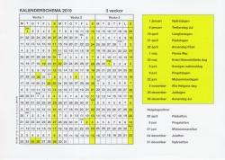 Kalenderschema