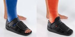 Gipssko sandal med karborrspänne Cellona