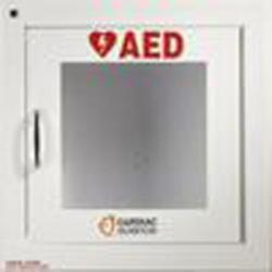 Väggskåp med larm AED