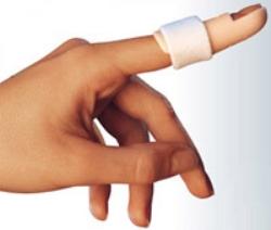 Fingerskena plast beige