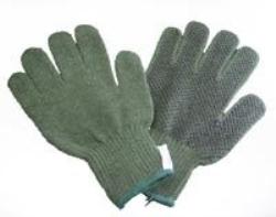 Handske arbets med pvc-noppor