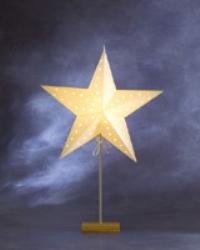 Julstjärna/ lampa på ekfot