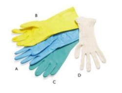 Handske hushåll nitril