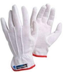 Handske trikå pvc-noppor vit
