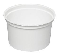 Näyterasia pyöreä valk muovi PP
