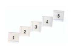 Numeromerkit setti 1 - 5